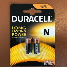 2 X Duracell N MN9100 da 1,5 V PILE ALCALINE LR1 E90 AM5 KN più lunga scadenza