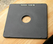 original Toyo monorail  5x4 10x8   lens board copal compur  0  34.9mm hole