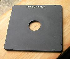Original Toyo monorraíl 5x4 Lente 10x8 Board Copal Compur agujero de 0 34.9mm
