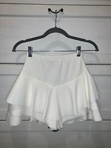Rebellious fashion White frill high waisted shorts - Claudelle. Size 6 Worn Once