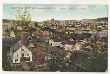 View of FRANKLIN NH From Cemetery Hill, Vintage New Hampshire Postcard