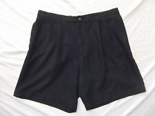 Greg Norman mens 9in golf shorts pleated black lightweight short length 40 W40