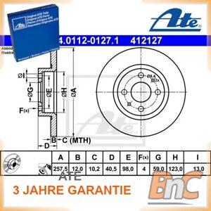 Scheibenbremsbelag 13.0460-0072.2 für ALFA ROMEO SEAT VW ATE Zubehörsatz