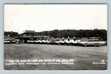 Rppc of Wisconsin Dells Wi, Amphibian Line, Ride The Duck, Wisconsin Postcard