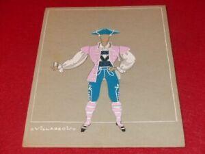 ART DECO COSTUMES RAYMOND FOST OFFENBACH LARGE DUCHESS 1948 GOUACHE ORIGINAL