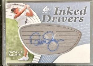 NATALIE GULBIS SP auto INKED DRIVERS 2012 UD SP GAME USED GOLF Autograph LPGA