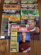 Star Trek The Next Generation Magazine Lot Of 9- 1, 6, 17, 20, 21, 23, 26, 27,29