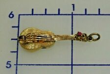 14K Yellow Gold Guitar Musical Instrument Charm or Pendant