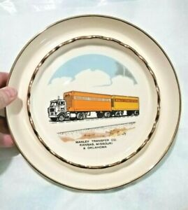 Vintage Manley Transfer Co. Kansas Missouri Oklahoma Large Ashtray