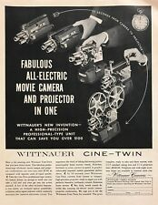 1958 Wittnauer Electric Movie Camera & Projector-in-One photo vintage print ad