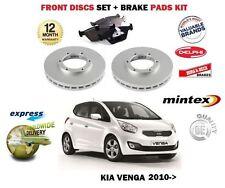 pour Kia Venga 1.4 1.6 + CRDI 2010- > NEUF ENSEMBLE DISQUES DE FREIN AVANT +