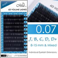 0.07 Faux Mink Lash Individual Eyelash Extension 6D Russia Volume Lash Supplies