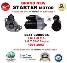 FOR SEAT CORDOBA 1.6i 1.8i 2.0i 1.8 T 20V Cupra 1995-2002 STARTER MOTOR 9-Teeth