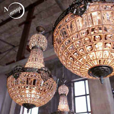 Royal French Empire Style Big Led Crystal Chandelier Pendant Lamp Lustres Lights