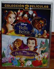 LA BELLA Y LA BESTIA+LA BELLA Y LA BESTIA 2 NUEVO 2 PELICULAS DVD (SIN ABRIR) R2