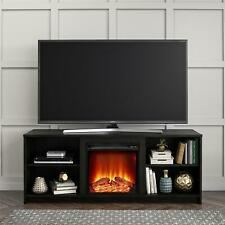 65 Inch Wood TV Stand Unit w/ Open Shelf Entertainment Center Large FIRE PLACE