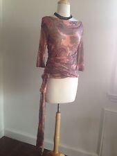 ETRO Milano Trademark Paisley Print Top Unique 2-way Attached Shawl/Belt  40