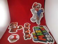 Super Mario 3D Land Nintendo 3DS Promo 5 Sticker Store Display Tanooki Goomba