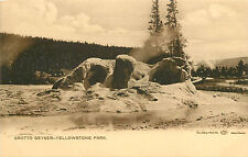 Vintage Postcard Haynes Photo Grotto Geyser Yellowstone National Park