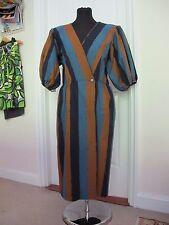 Vestido De Verano Vintage década de 1970 Yves Saint Laurent De Algodón Manga de soplo Envoltura
