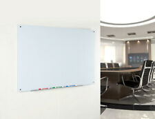 Magnetic Glass Dry-Erase Board Set Includes Magnets, & Aluminum Marker Tray