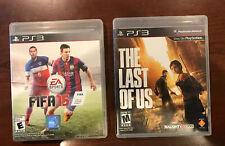 PS3 Sony PlayStation 3 The Last of Us & FIFA 15 2015 2013