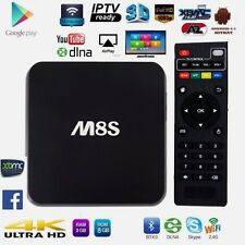 ANDROID BOX INTERNET SMART TV M8S 4K STREAMING QUAD CORE 1GB  MINI PC WIFI IT