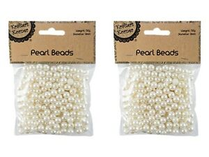 50g Pearl Beads Cream Imitation Pearl Necklace Bracelet Jewellery Pearl Bead 8mm