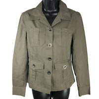 NWT She's Cool Olive Green Button Front Thin Jacket Women's Size Small