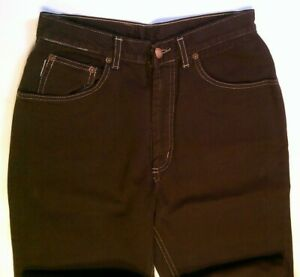 Ladies Brown Jeans High Waisted Willie Malone Retro Vintage Chic