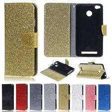 Glitter Wallet Leather Flip Case Cover For Xiaomi Mi 5X Redmi 3 Pro Note 4 4X