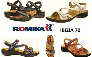 Romika shoes Germany Orthotic friendly comfort leather walking Sandals Ibiza 70