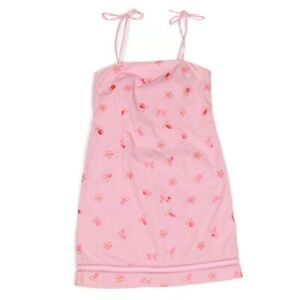 LILLY PULITZER Cute Pink Strawberry Embroidered Summer Dress girls size 14 - 088
