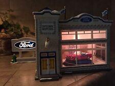 Department 56 Snow Village Uptown Motors Ford Mustang Showroom