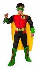 New Photo Real Deluxe Muscle Chest Kids Robin Costume Childs Boys Small 4 6