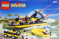 1998 -LEGO Town- Res-Q River Response #6451 Complete Boat Set w/Minifigures