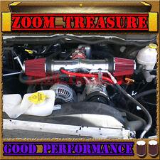 RED DUAL 2004-2007/04 05-07 DODGE DAKOTA/DURANGO 4.7 4.7L V8 TWIN AIR INTAKE KIT