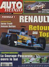 AUTO HEBDO n°1336 du 10 Avril 2002 PORSCHE 911 GT3 CUP ALFA 156 GTA SW LEXUS IS