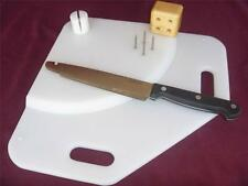 Kitchen Board Mounted Knife with holding spikes, for cutting food, disability
