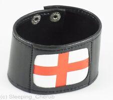 Para Hombre De Cuero Pulsera Inglaterra, St. Georges Bandera