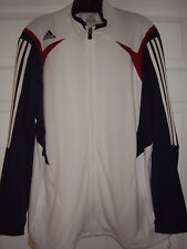 Adidas Women's Front Zip Track Top Wht/Navy/Red Size XL