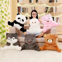 Lumbar Pillow Back Cushion Cartoon Pig Panda Stuffed Animal Plush Doll Gift Toy