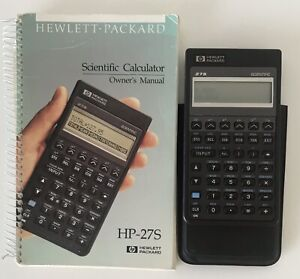 HP-27S Hewlett Packard scientific calculator with manual