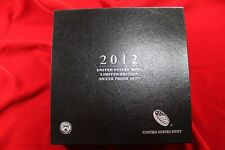 2012 UNITED STATES MINT LIMITED EDITION SILVER PROOF SET WITH COA, FANTASTIC SET