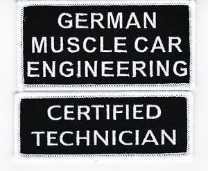 GERMAN MUSCLE CAR SEW//IRON PATCH BADGE EMBROIDERED MERCEDES BENZ VOLKSWAGEN
