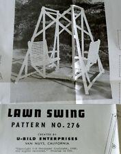 Vintage 1980 U-Bild Lawn Swing Pattern No 276 Woodworking Plans Double Bench