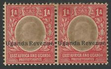 Uganda KEdVII 1905 1a revenue unused pair