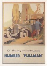 Humber Pullman MODERN postcard issued by Robert Opie