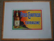 "LITHOGRAPH OF PERES CPHARTREUX ""TARRAGONE"" FROSSARD COURBET LIQUEUR"
