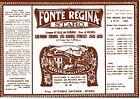 ETICHETTA ACQUA MINERALE FONTE REGINA 1930